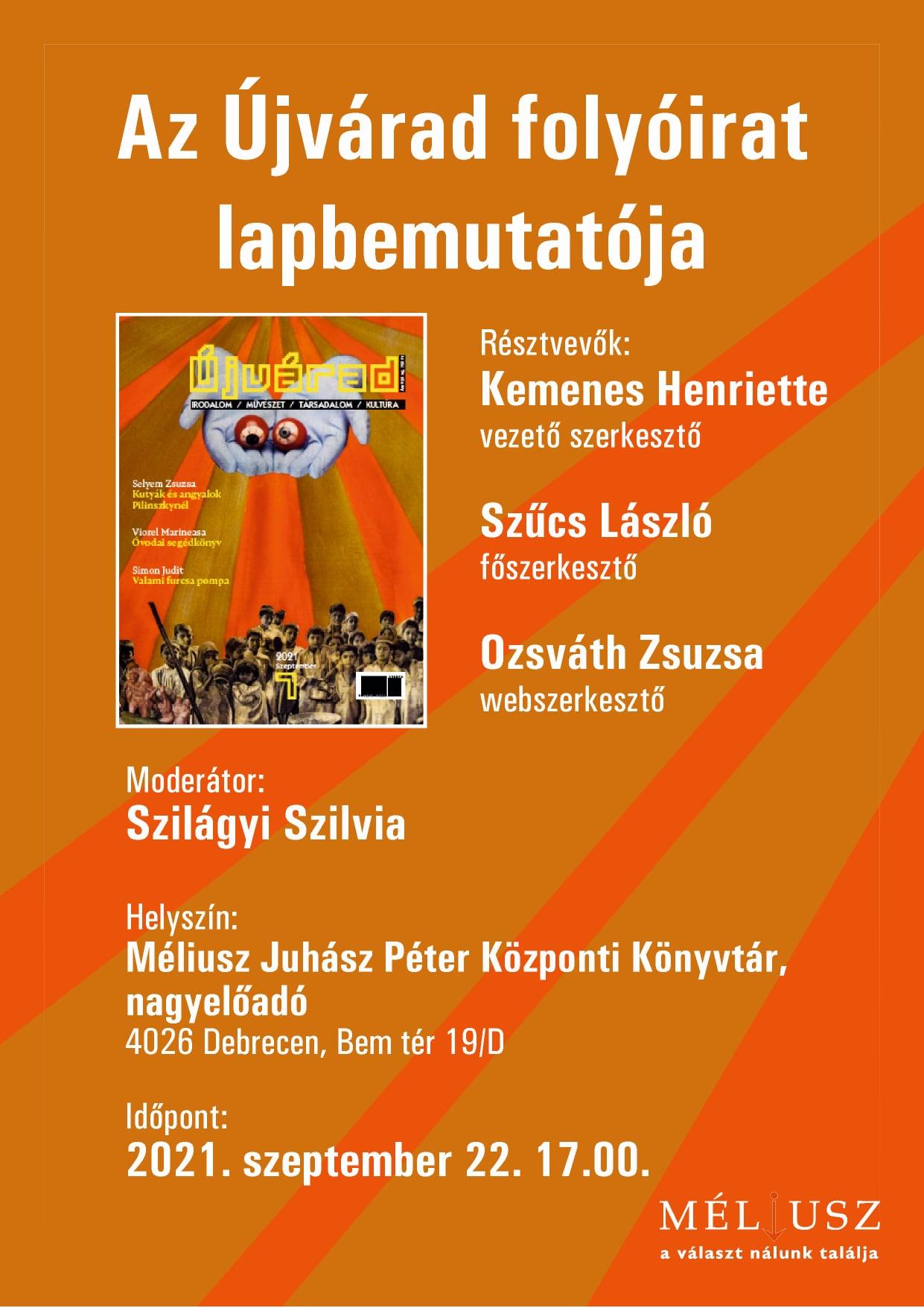 Újvárad lapszámbemutató Debrecenben